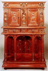 FR Carved walnut, buffets
