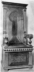 FR Choirstall chair- carved oak