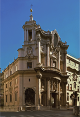 Francesco Borromini façade of San Carlo alle Quattro Fontane Rome, Italy period: Baroque Façade-distinctly baroque created something not flat