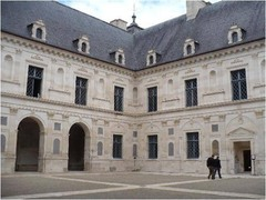 French Reniassance, Chateau d' Ancy le france interior courtyard.