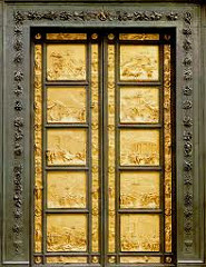 Gates of Paradise by Ghiberti, 15th Cen. Italian Ren  - 17' tall, very massive, present old and new testament