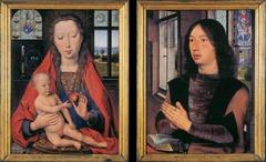 Hugo van der Goes (c. 1440-82) Virgin and Child with patron portrait  1487