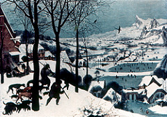 Hunters in the snow. Pieter Bruegel the Elder. 1565. Oil on wood.