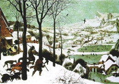 Hunters in the Snow Artist: Pieter Bruegel Themes -Labor: The years is structured around weather and peasantry tasks -Season: Timeless image engaging humankind