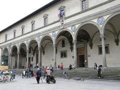Italian architects also revived the classical style. Burnelleschi's Ospedale degli Innocenti showcases