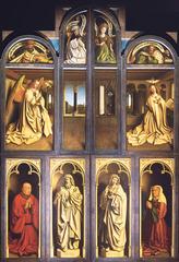 Jan van Eyck (1390-1441) Ghent Altarpiece (closed) 1432 polyptych