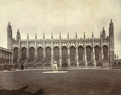 King's College Chapel, 1508-, Cambridge, England.