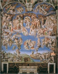 Last Judgement Michelangelo Rome, Italy (Sistine Chapel)