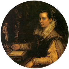 Lavinia Fontana, Self-Portrait in a Studio, Uffizi