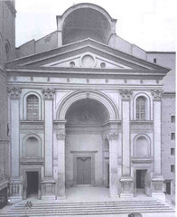 Leon Battista Alberti. Early Renaissance. Church of Sant'Andrea features a classical temple front and a triumphal arch.