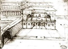 Leonardo da Vinci designed new buildings and cities.