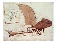 Leonardo da Vinci designed the first helicopter, airplane, and bicycle long before they were actually invented.