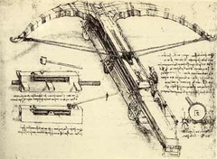Leonardo da Vinci even designed new weapons.