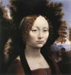 Leonardo Da Vinci  Portrait of Ginevra de'Benci  1474-1478