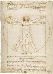 Leonardo da Vinci wanted to learn more about the human anatomy as well so made many drawings of the body.
