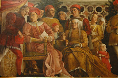 ludovico gonzaga and his court, mantegna, 1474, mantua