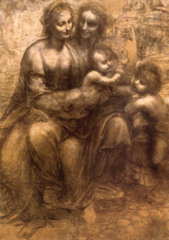 Madonna and Child with St. Anne and Infant St. John the Baptist Leonardo Region of Northern Italy