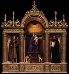 Madonna dei Frari, Bellini, 1488, S. Maria dei Frari, Venice, oil on panel