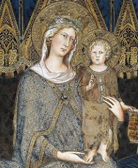Maesta, Simone Martini, 1315, sala del consiglio, palazzo pubblico