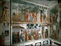 Masaccio. Italian. Interior of Brancacci Chapel, Santa Maria del Carmine, Florence. 1424-1427, Early Italian Renaissance