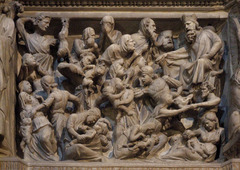 Massacre of the Innocents, Giovanni Pisano, 1297-1301, panel from the pulpit of Sant'Andrea, Pistoaia, marble