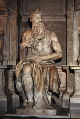 Michelangelo, Italian. Moses (for the tomb of Pope Julius II), 1513--15. High Renaissance.