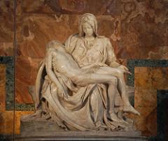 Michelangelo, Italian. Pieta, 1498—1500. High Renaissance.