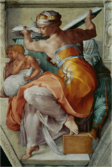 Michelangelo, Italian. Sibyl from Sistine Chapel Ceiling, 1512. High Renaissance
