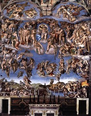 Michelangelo  The last judgement  Tomb of Giuliano de Medici, S.  Lorenzo  Vatican  1534-1541