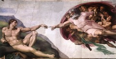 Michelangelo Creation of Adam  Sistine Ceiling 1508-1512