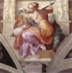 Michelangelo Libyan Sibyl  Sistine Ceiling 1508-1512