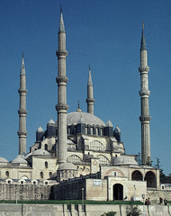 Mosque of Selim II Edrine, Turkey. Sinan (architect), 1568-1575 C.E. Brick and stone It is one of the most important buildings in the history of world architecture both for its design and its monumentality. It is considered to be the masterwork of the great Ottoman architect Sinan.
