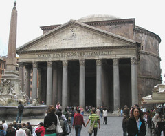 Pantheon Imperial Roman. 118-125 C.E. Concrete with stone facing One of the great buildings in western architecture, the Pantheon is remarkable both as a feat of engineering and for its manipulation of interior space, and for a time, it was also home to the largest pearl in the ancient world.