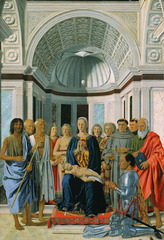 Piero della Francesca (1420-1492) Madonna and Child with saints 1472-1474