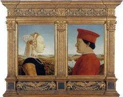 Piero della Francesca (1420-1492) Portraits of Battista Sforza and Federico da Montefeltro  c. 1472