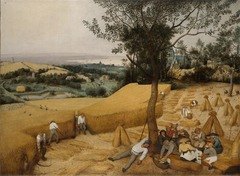 Pieter Bruegel the Elder The Harvest 1565  Oil on wood - Another painting of six depicting conditions and activity during different times of a year