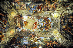 Pietro da Cortona Allegory of Divine Providence and Barberini Power, Period: Baroque Optical illusion of sky