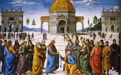 Pietro Perugino (1450-1523) Delivery of the Keys 1482