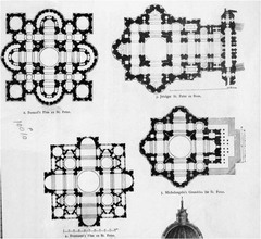 Plan New St. Peter's Bramante Rome, Italy
