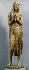 Quattrocento (1 Donatello. Mary Magdalene -In wood, covered completely in her hair -Revel I her ugliness  -Wood adds brittleness, roughness
