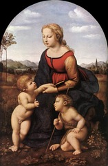 Rafael (1483-1520) Madonna and child with Saint John(La Belle Jardinière) 1507