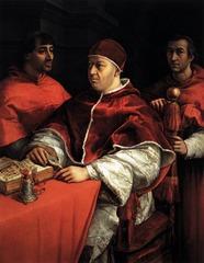 Raphael  Portrait of Pope Leo X with his nephews  1517