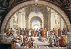 Raphael  School of Athens  stanza della Segnatura 1508-11