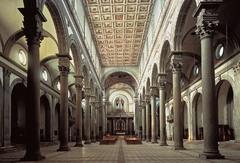 San Lorenzo -rebuilt by Filippo Brunelleschi -c. 1425 -Florence, Italy