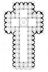 Santo Spirito (Plan) by Brunelleschi, 15th Cen. Italian Ren