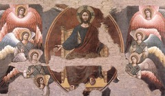 Section of Last Judgement, Pietro Cavallini, 1293, Santa Cecilia in Trastevere, Rome, fresco