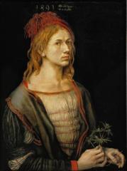 Self Portrait with Spray of Erygium
