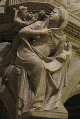 Sibyl, Giovanni Pisano, 1297-1301, attached to column from pulpit of Sant'Andrea, Pistoia, marble