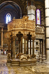 Siena Cathedral Pulpit, Nicola Pisano, 1268