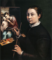 Sofonisba Anguissola, Self Portrait at the easel , Bern